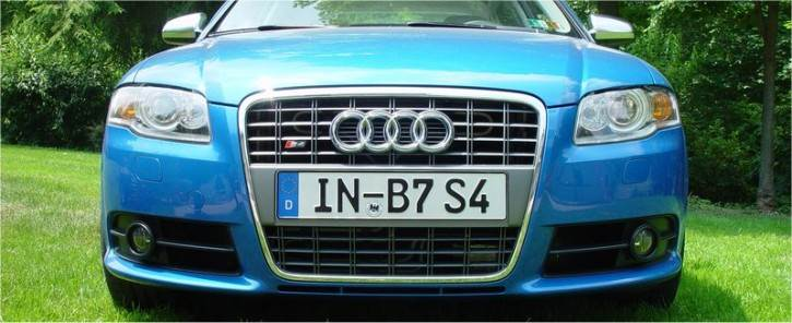 German License Plate on an AUDI S4