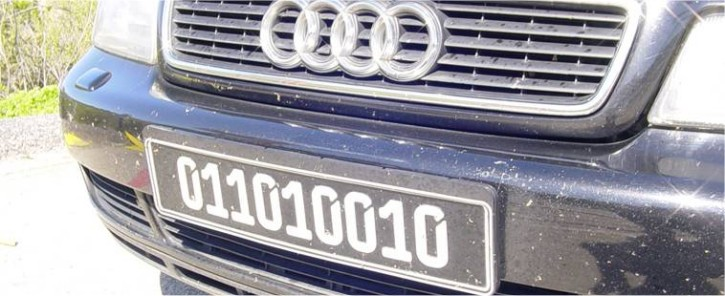 black german license plate
