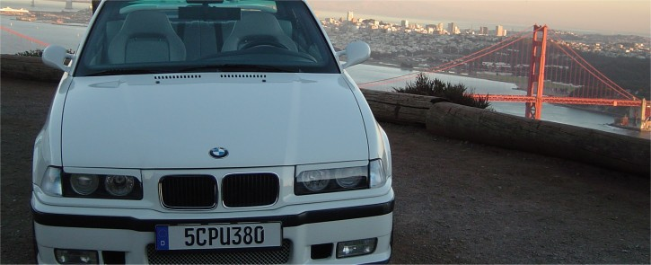 German Europlate on a BMW in front of the Golden Gate Bridge