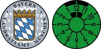 Bayern Seal and Inspection sticker