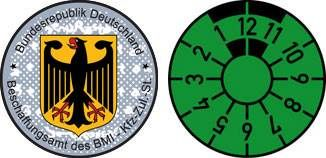 German Government sticker