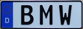 short german license plate