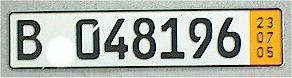german temporary license plate