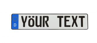 Custom European License Plate