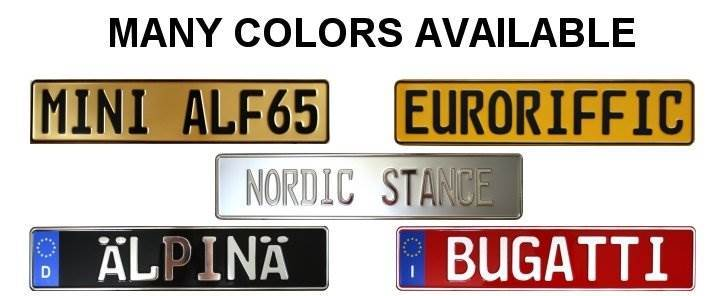 european plates colors