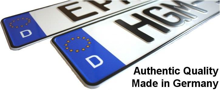 custom european license plates