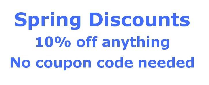 spring discounts
