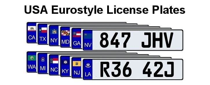 US States europlate flags