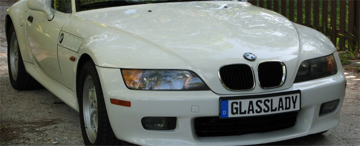 German License Plate on a BMW Z3