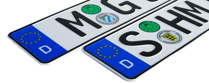 Custom German License Plates