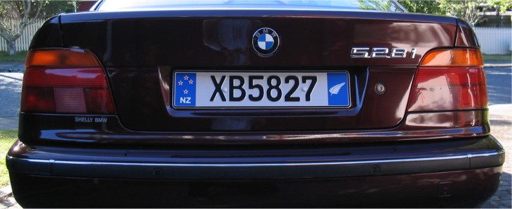New Zealand European License Plate